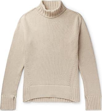 Joseph Sloppy Joe Oversized Ribbed Cotton-blend Rollneck Sweater - Ecru