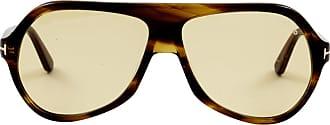 Tom Ford Eyewear Óculos de Sol Aviador Amarelo - Mulher - Único US