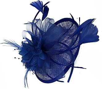 Caprilite Royal Blue Sinamay Disc Saucer Fascinator Hat for Women Weddings Headband Races