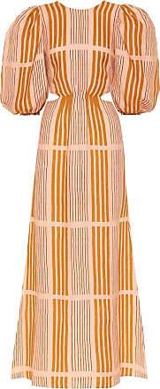 Johanna Ortiz Whispered Sunset linen midi dress