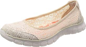 Skechers Women 23437 Closed Toe Ballet Flats, Beige (Natural), 5 UK (38 EU)