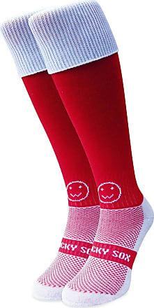 Wackysox Rugby Socks, Hockey Socks - Red Socks With White Turnover
