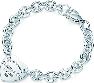 Tiffany & Co. Return to Tiffany medium heart tag on a bracelet in sterling silver, medium - Size 7.5 in