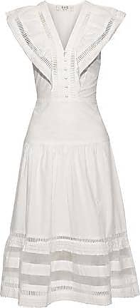 Sea New York Sea Woman Capri Organza-paneled Cotton-poplin Midi Dress Cream Size 12