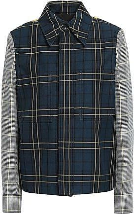 Joseph Joseph Woman Coen Houndstooth Jacquard And Checked Twill Jacket Storm Blue Size 38