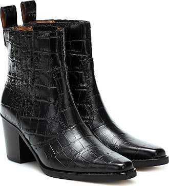 Ganni Ankle Boots Western aus Leder