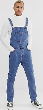 Asos Jeans-Latzhose in mittelblauer Waschung