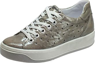 Igi & Co 5157355 Capra Me. Op Grey Snekaers Woman Perforated Leather Stars Grey Size: 8.5 UK