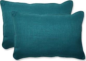 Pillow Perfect Outdoor Rave Teal Over-Sized Rectangular Throw Pillow, Set of 2