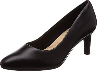 Clarks Calla Rose, Womens Closed Toe Pumps, Black (Black), 5.5 UK (39 EU)