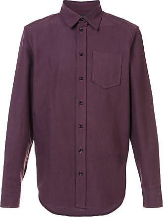 Yang Li Camisa mangas longas com botões - Vermelho