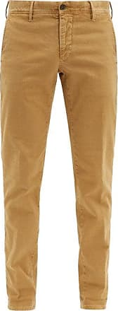Incotex Slim-fit Stretch-cotton Blend Chino Trousers - Mens - Beige