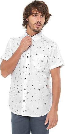 Hawaiian Dreams Camisa HD Reta Estampada Branca