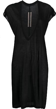 Rick Owens plunge neck longline tunic - Black