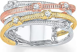 Kay Jewelers Diamond Ring 1/10 ct tw Round-cut 10K Tri-Color Gold