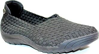 bernie mev. Womens Rigged Fly Slip-On Sneaker (Black, 7)