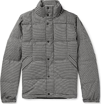 Paul Smith Quilted Puppytooth Brushed Stretch-cotton Down Jacket - Black