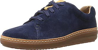 Clarks Womens Amberlee Crest Fashion Sneakers, Navy, 6 M US