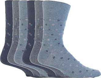 SockShop 6 pairs Mens SockShop Cotton Gentle Grip Big Foot Socks, Size 12-14 uk 46-50 eur See Various (6 x RJ44 Micro - Denim)