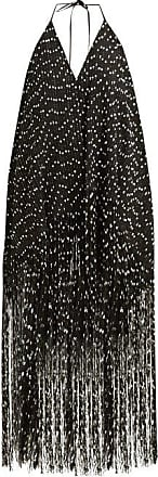 Jacquemus Riviera Fringed Polka Dot Mini Dress - Womens - Black