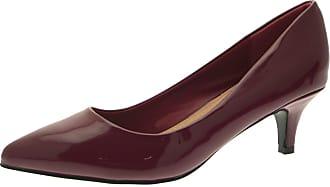 Lora Dora Womens Pointed Toe Court Stiletto Shoes Burgundy Patent UK 4