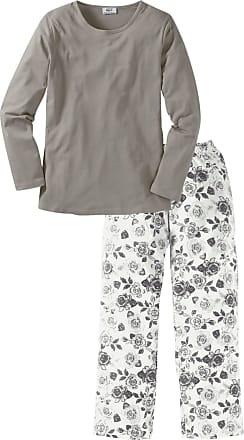 Bonprix Dam Pyjamas i grå lång ärm - bpc collection e65cef6d72118