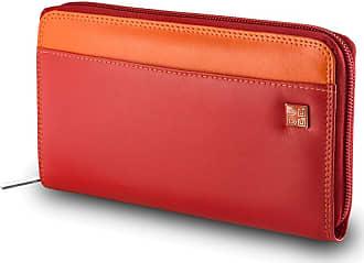 DuDu Grand portefeuille pour femme en cuir véritable coloré fermeture éclair  circulaire ... aa3b380ab34