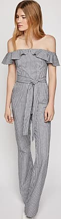 BCBGeneration Railroad Stripe Strapless Jumpsuit