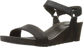 7975032d3b58 Teva Ysidro Stitch Wedge Sandals Women Black Shoe Size US 8
