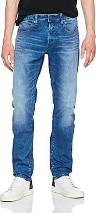 G-Star Mens 3301 Slim Jean, lt Aged, 34