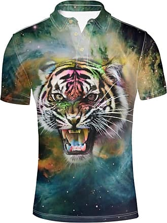 Hugs Idea Tiger 3D Printed Mens Jersey Sport Shirt Summer Fashion Breathable Short Sleeve T-Shirts Tops
