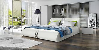 Stylefy Maipo Polsterbett Weiß 140x200
