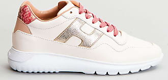 Reposi Calzature HOGAN Interactive³ - Sneakers in pelle avorio oro
