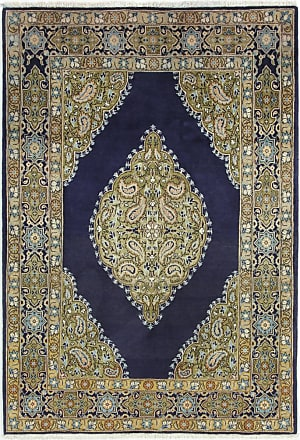 Nain Trading 165x113 Tappeto Qum Marrone Scuro/Blu Scuro (Lana, Persia/Iran, Annodato a mano)