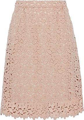 303a6d8800 Dolce & Gabbana Dolce & Gabbana Woman Wool And Cotton-blend Guipure Lace  Skirt Pastel