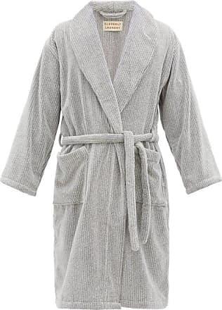 Cleverly Laundry Peignoir en coton éponge à ceinture