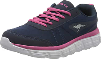 Kangaroos Womens Kr-ref Low-Top Sneakers, Blue (Dk Navy/Daisy Pink 4204), 6 UK