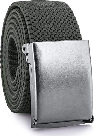 Decalen Mens Nylon Belt with Metal Automatic Buckle Canvas Breathable Men Waist Belt (Khaki)