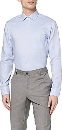 a maniche lunghe Seidensticker Camicia Business Tailored Fit da Uomo con Collo Kent