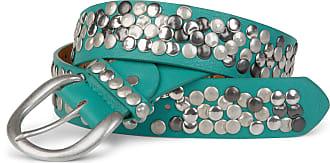 styleBREAKER studded belt in vintage style, shortenable 03010024, size:100cm, color:Turquoise