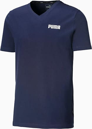 Puma Elevated Essentials V-Neck Herren T-Shirt | Mit Aucun | Blau | Größe: XXL