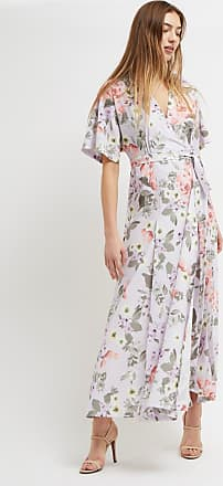 French Connection Armoise Crepe Floral Maxi Wrap Dress