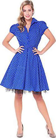 Blaues kleid mit punkten schuhe