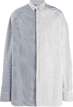 Juun.J Camisa bicolor listrada - Azul
