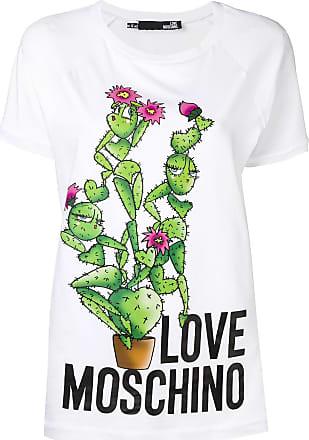 Love Moschino cactus print T-shirt - White