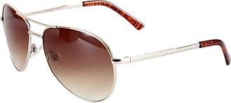 French Connection Mens 26FCU616 Classic Aviator Sunglasses, Gold, One Size