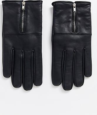 Bolongaro Trevor zip leather gloves-Black