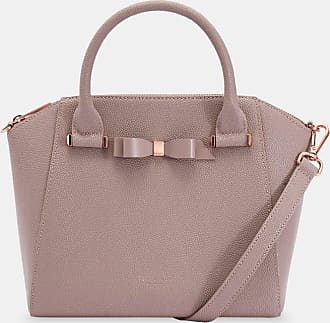 Ted Baker Bow Detail Zip Tote in Pale Pink JAELYNN, Womens Accessories