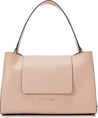 Calvin Klein ENFOLD TOP HANDLE Womens Cross-Body Bag, Pink (Nude), 14.5x24x34 centimeters (B x H x T)
