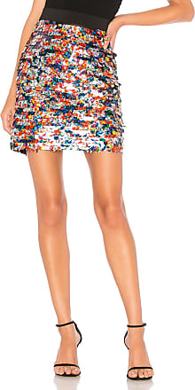 Milly Sequin Modern Mini Skirt in Red